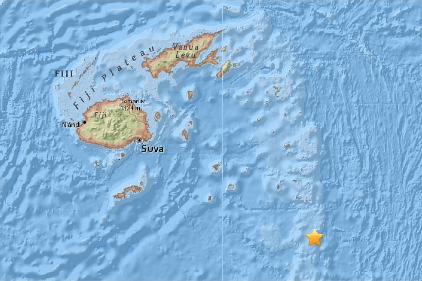 A powerful 6.8-magnitude earthquake struck off Fiji on Sunday shortly after another hit off Tonga.
