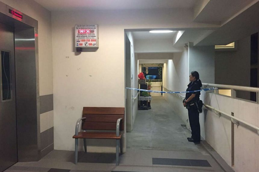 A police cordon can be seen near the unit at Block 152B Bishan Street 11, on Saturday (Sept 24), where a 60-year-old man was found dead in his living room.