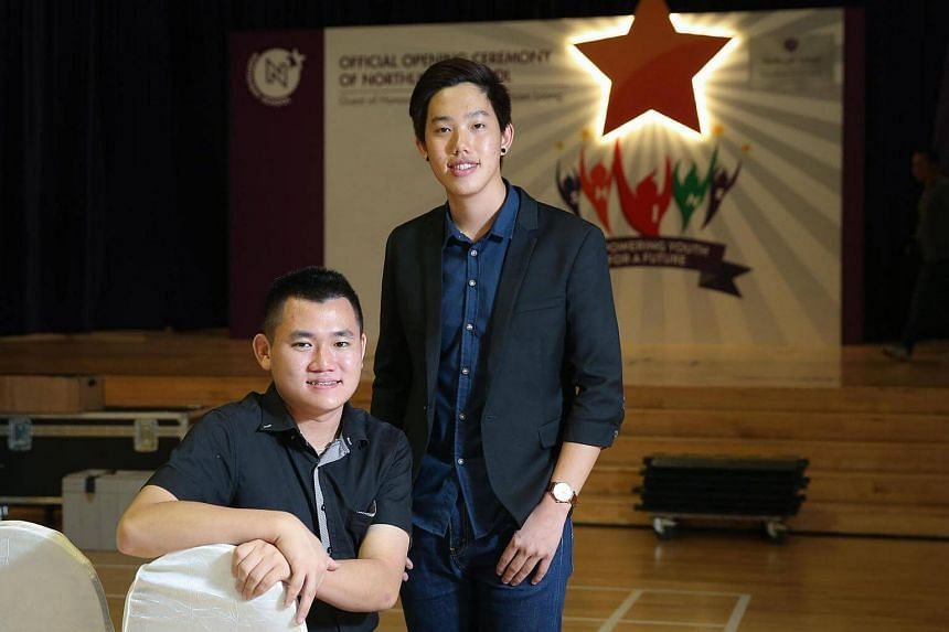 Former students of NorthLight School, Kenneth Yong (left) and Eric Zhuo.