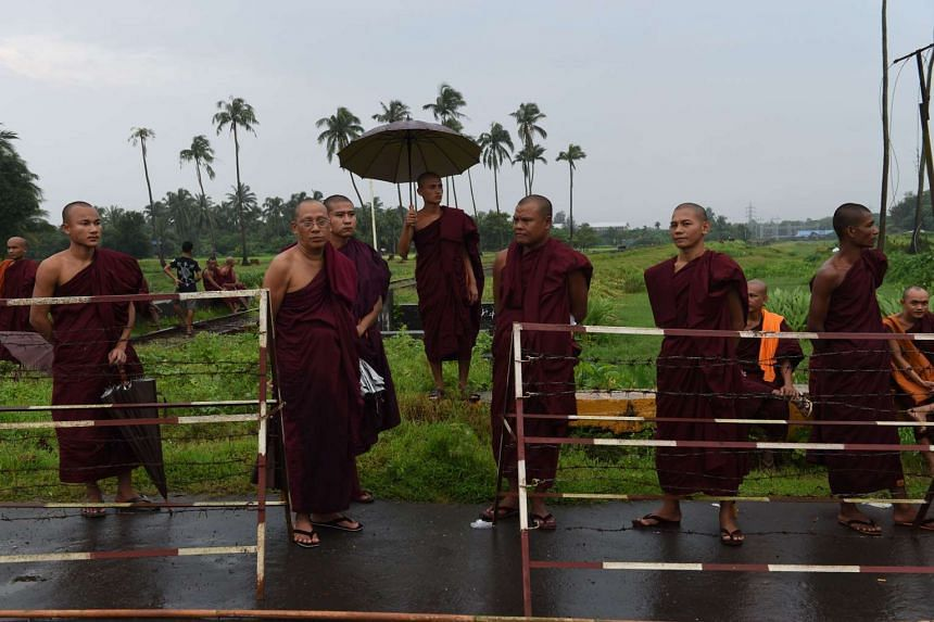 A Dutchman was arrested after being accused of pulling the plug on a speaker being used for a Buddhist sermon.
