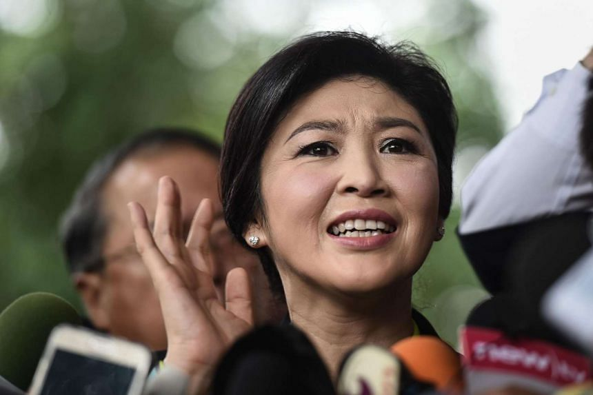 Former prime minister Yingluck Shinawatra arriving at the Constitutional Court in Bangkok on Aug 5, 2016.