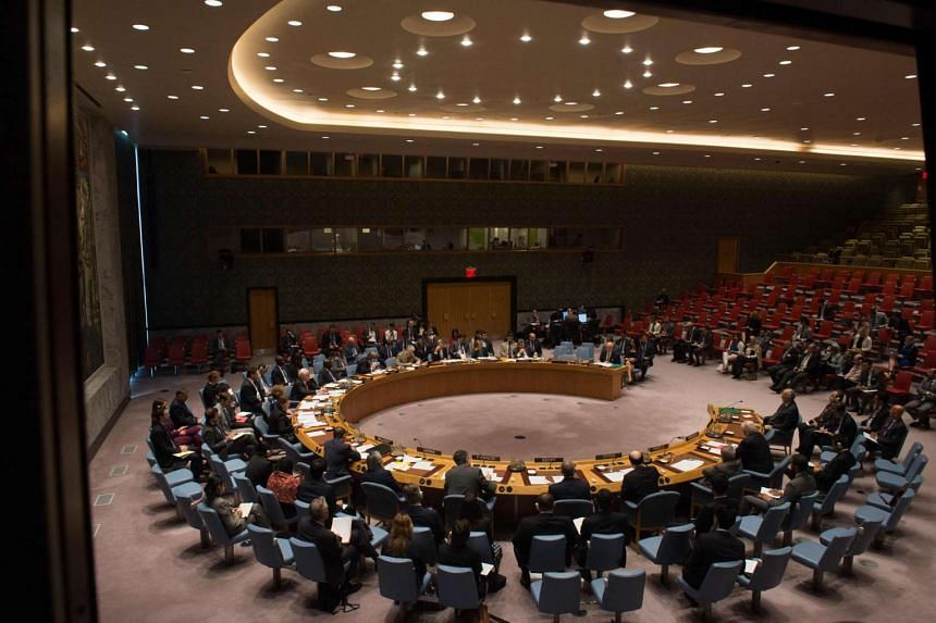 An overall view of a United Nations Security Council emergency meeting on the situation in Syria, at the United Nations in New York on Sept 25, 2016.