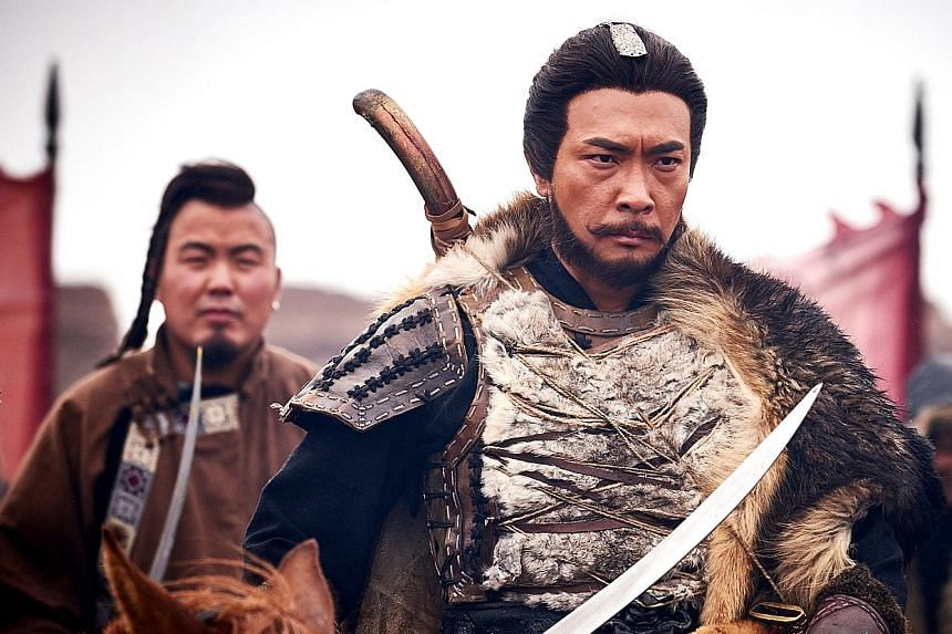 Tay Ping Hui got to take part in massive battle scenes on horseback during the filming of Legend Of The Condor Heroes in Lanzhou and Hengdian.