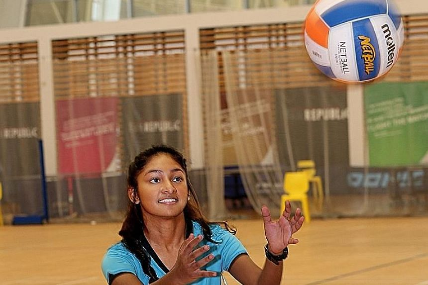 Jeevina Ganesh, who applied for Republic Polytechnic's diploma in sports coaching course through the Early Admissions Exercise, wants to motivate other students like her and dreams of representing Singapore in netball.