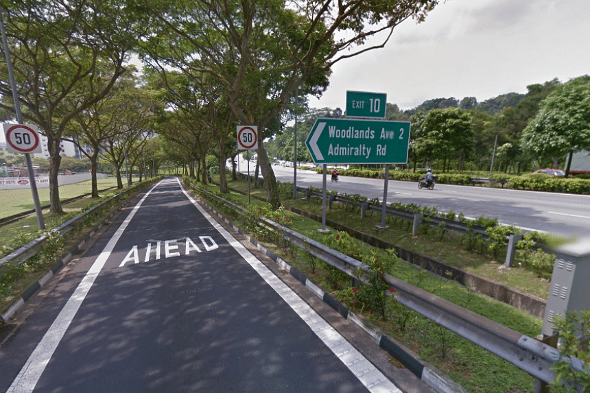 The collision occurred along the SLE towards the Bukit Timah Expressway near the Woodlands Avenue 2 exit at about 3.40am on Sunday (Sept 25).