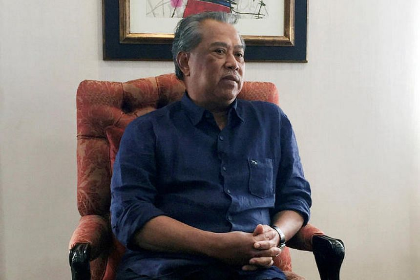 Former Malaysian deputy prime minister Muhyiddin Yassin speaks during an interview with Reuters in Kuala Lumpur, on Sept 27, 2016.