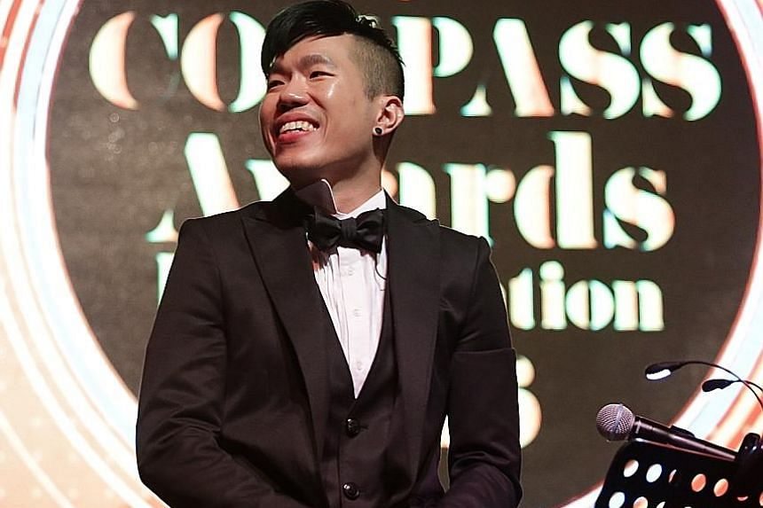 Mr Tong Hong Tat (above) took home the Wings of Excellence award and singer-composer Mark Chan was one of three veterans who won the Artistic Excellence Artist award.