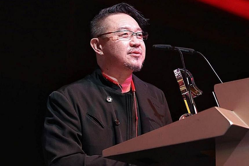 Mr Tong Hong Tat took home the Wings of Excellence award and singer-composer Mark Chan (above) was one of three veterans who won the Artistic Excellence Artist award.