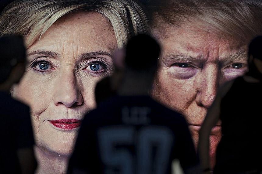 Mrs Clinton and Mr Trump will face each other on Monday night (Tuesday morning, Singapore time) as the two most unpopular presidential candidates in modern history
