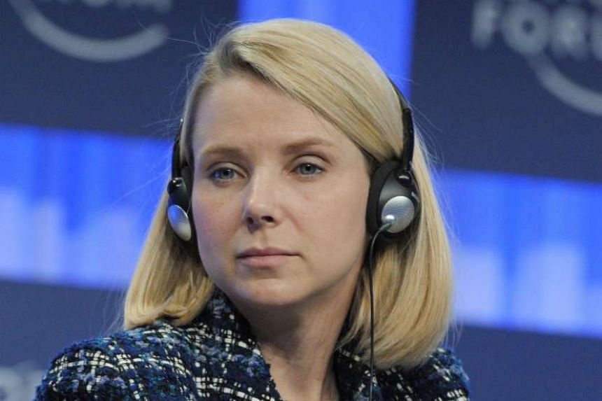 A 2014 file photo shows Yahoo chief executive Marissa Mayer at the World Economic Forum in Switzerland.