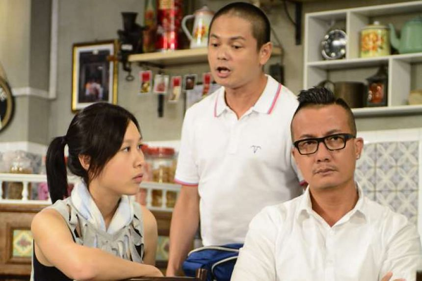 """Channel 8 series 118, which stars (from left) Ya Hui, Dennis Chew and Chen Hanwei, was one of the shows listed in the MDA report as programmes with segments deemed """"advertorial in nature."""""""