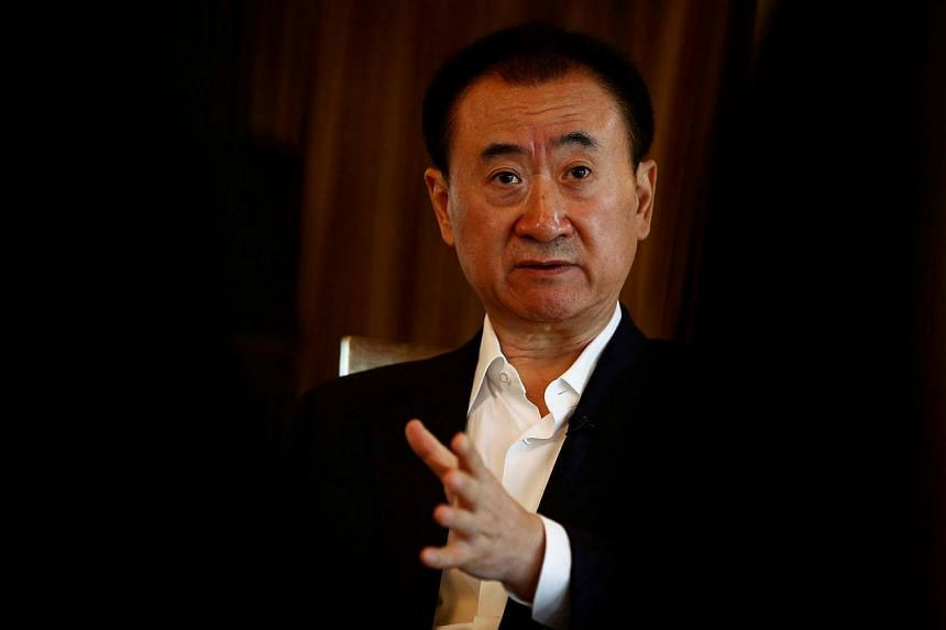 Wang Jianlin, chairman of the Wanda Group, speaks during an interview in Beijing, China on Aug 23.