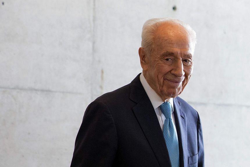 Israeli ex-president Shimon Peres in Tel Aviv on May 22, 2016.