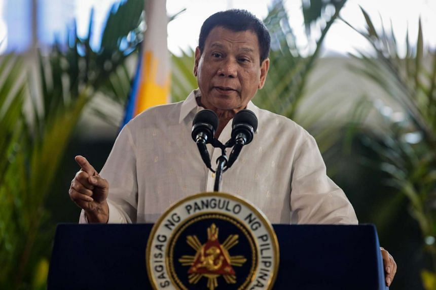 Beijing's envoy has said that relations between China and the Philippines are improving under President Rodrigo Duterte (above).