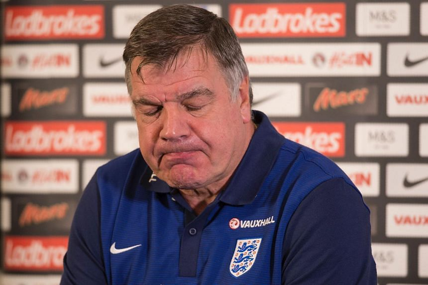 Sam Allardyce speaking at a press conference on Aug 29, 2016.