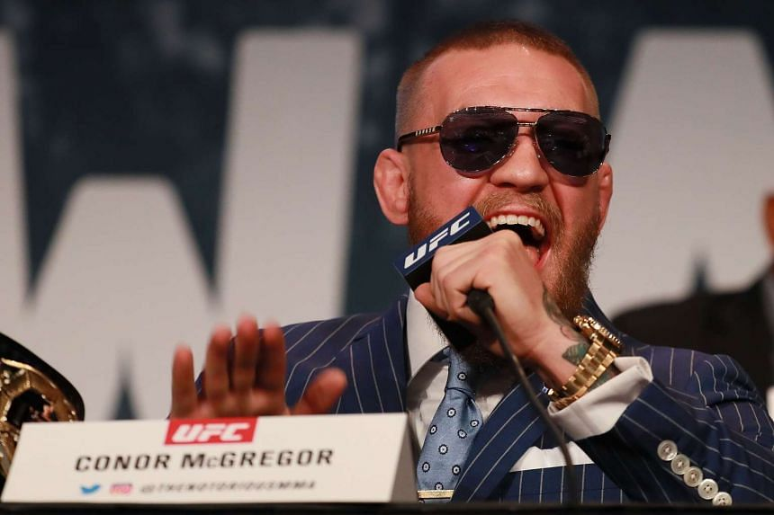 Conor McGregor addresses the media at the UFC 205 press conference at The Theater at Madison Square Garden on Sept 27, 2016 in New York City.