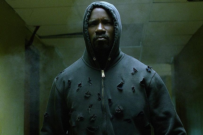 Mike Colter stars as Luke Cage, a superhero with impenetrable, bulletproof skin, in the Netflix series of the same name.