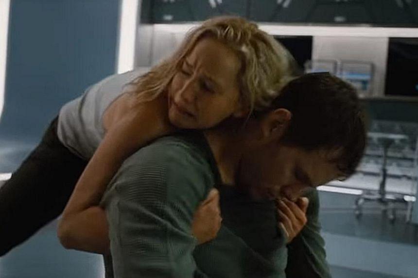 Chris Pratt and Jennifer Lawrence (both above).