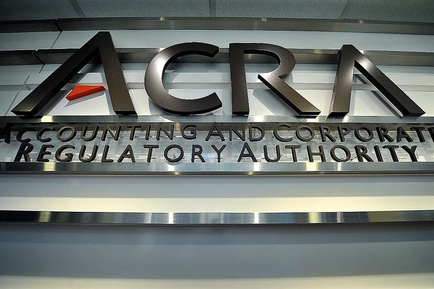 Each year, about 50 companies listed on the Singapore Exchange are selected to go under the microscope as part of Acra's Financial Reporting Surveillance Programme.