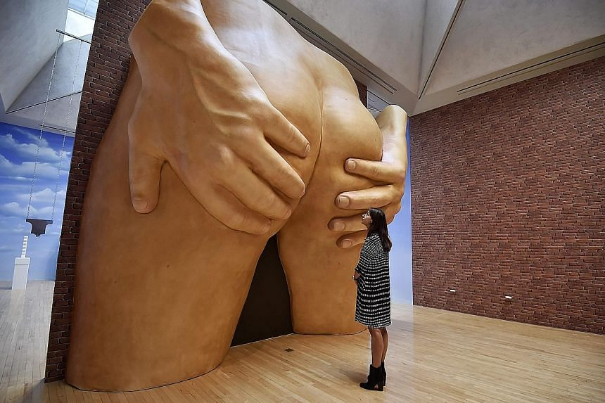 Anthea Hamilton's work includes an almost 5m-high sculpture of a male backside.