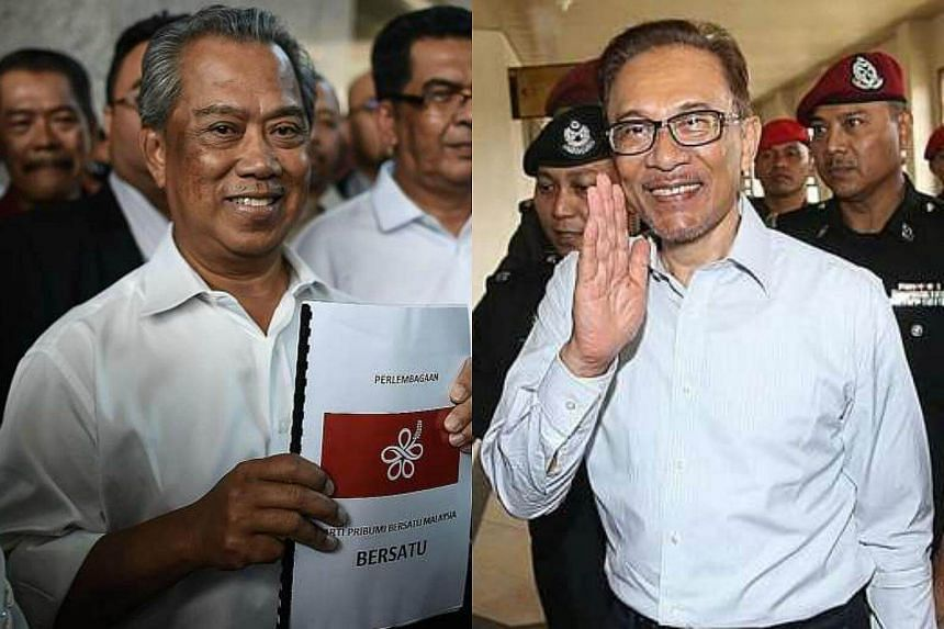 Dr Mahathir wants Bersatu president Muhyiddin Yassin (left) to be prime minister if the opposition topples Barisan Nasional at the next polls. However, the DAP said there should not be any further talk on who will become prime minister as it was prev