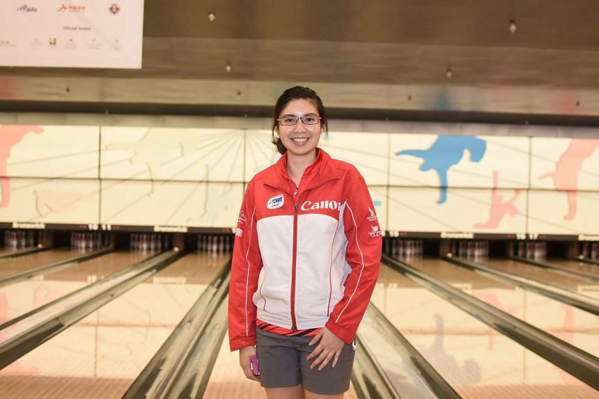 Jasmine Yeong-Nathan earned a bronze in the women's Masters event at the Asian Tenpin Bowling Championships in Hong Kong on Sept 28, 2016.