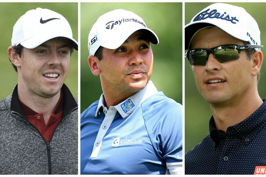PLayers (from left) Rory McIlroy, Jason Day and Adam Scott are in the running.