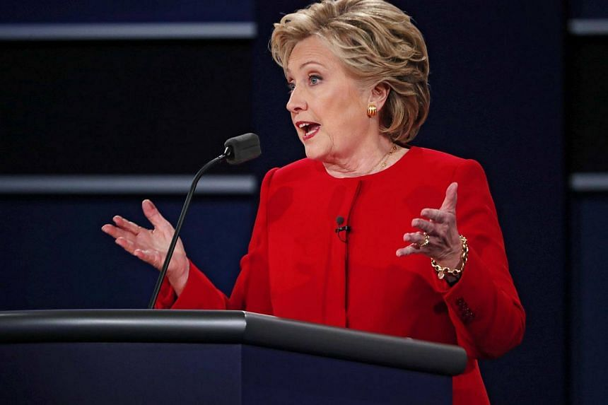 Democrat Hillary Clinton during the first presidential debate at Hofstra University in Hempstead on Sept 26, 2016.