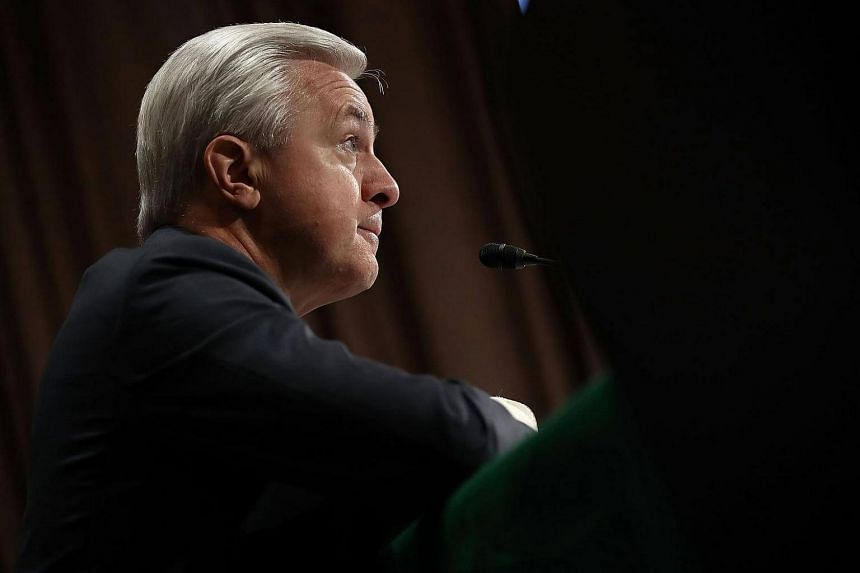 Mr John Stumpf, chairman and CEO of Wells Fargo, testifies before the Senate Banking, Housing and Urban Affairs Committee.