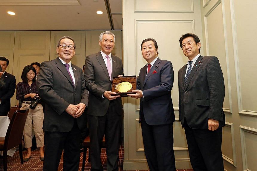 Prime Minister Lee Hsien Loong and Singapore delegates met the senior representatives of the Japan-Singapore Parliamentary Friendship League.