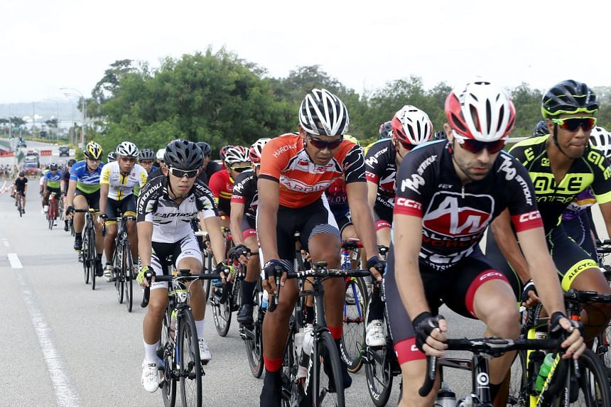 Above: The first OCBC Cycle Road Race in March, part of a four-race series to give riders more regular competitive action.