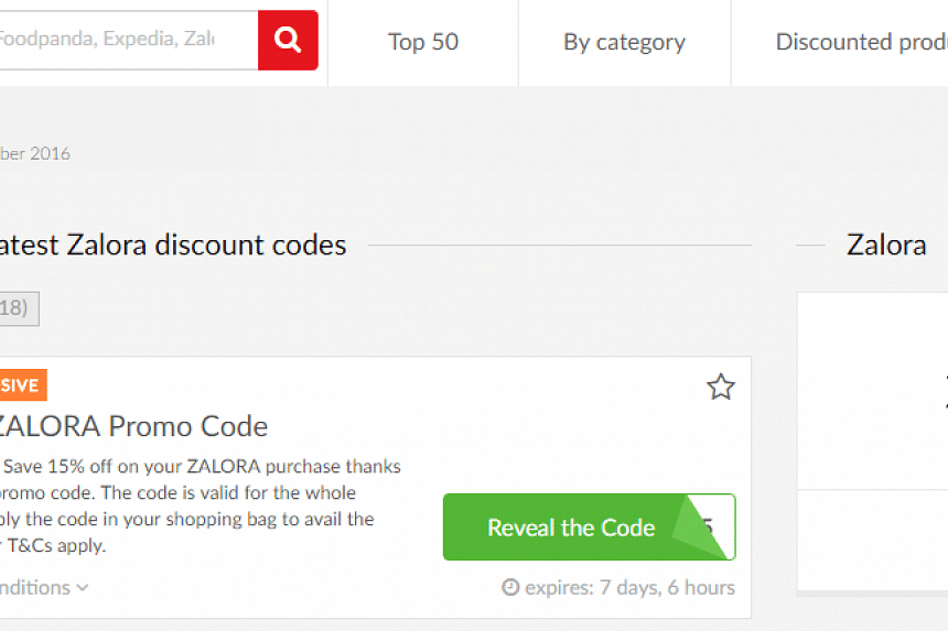 On the Picodi Singapore website, get Zalora discount codes for example.