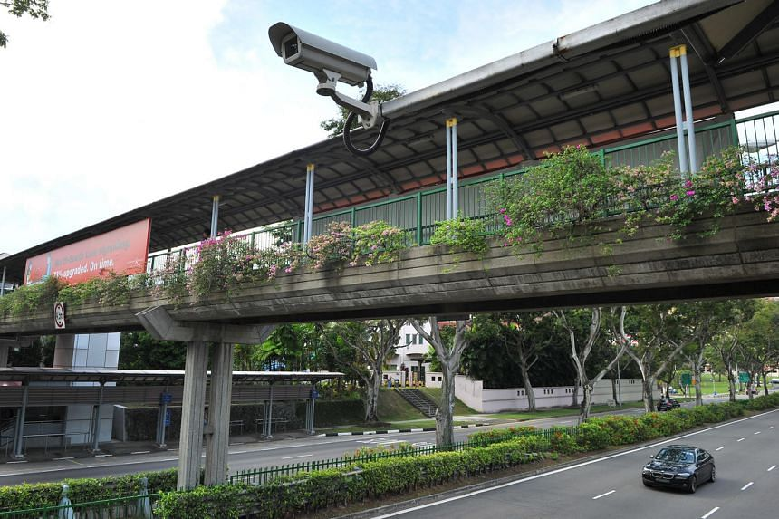A Closed Circuit Television (CCTV) camera located at Bishan Road. The Land Transport Authority will be adding CCTV cameras at 60 more locations from Oct 6 to deter illegal parking.