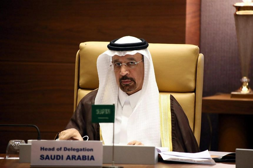 Saudi Oil Minister Khaled al-Faleh at the informal meeting of Opec ministers in Algiers, on Sept 28, 2016.