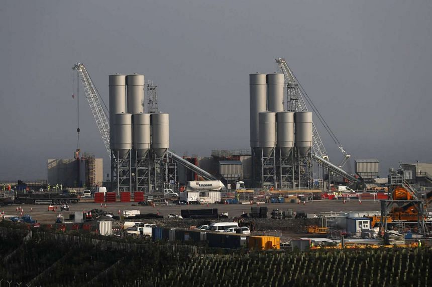 The Hinkley Point C nuclear power station site is seen near Bridgwater in Britain.