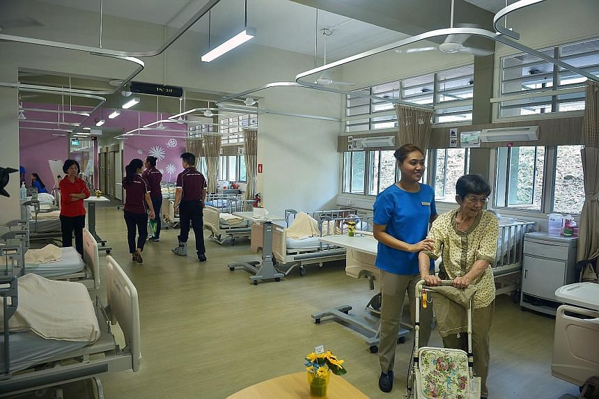 The three-storey, 130-bed Pearl's Hill Care Home was officially opened by Minister for Health Gan Kim Yong yesterday. It is operated by Vanguard Healthcare, which was set up by the Ministry of Health last year to run its own nursing homes. It also pr