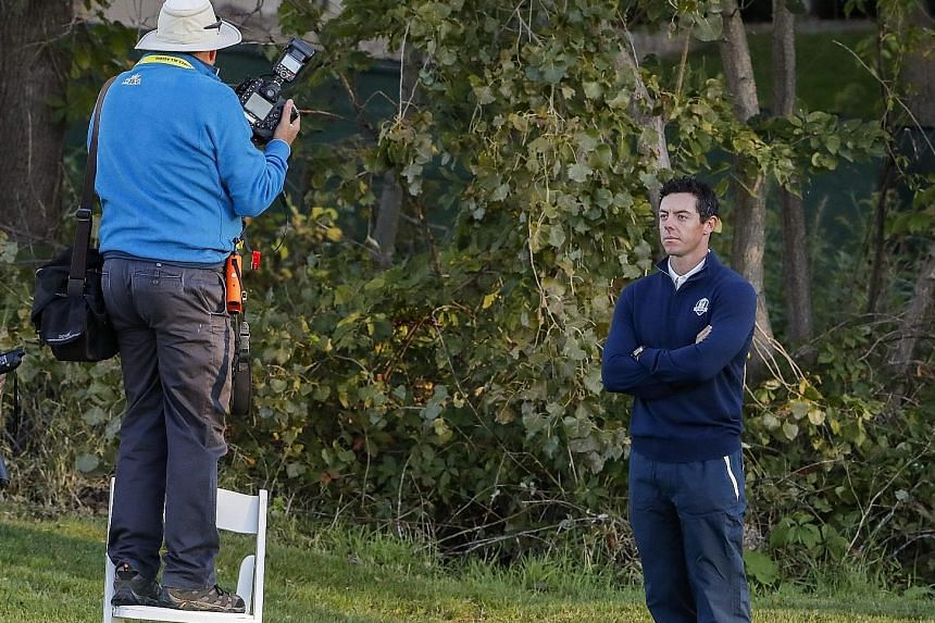 Northern Irishman Rory McIlroy poses for a photo at Hazeltine. He arrives on the back of winning the USPGA's season-ending Tour Championship.