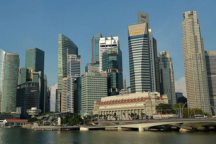 The Central Business District in Singapore. The Republic lags behind the best-performing nations in business sophistication and innovation.