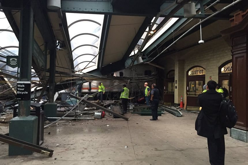 NBC New York has reported that a train has crashed into a train station in Hoboken, New Jersey, on Thursday (Sept 29).