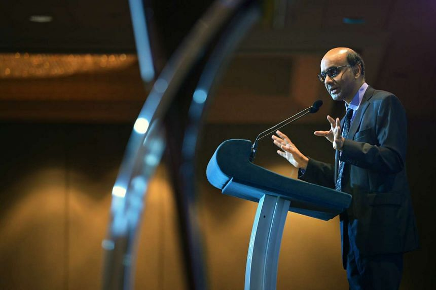 Deputy Prime Minister Tharman Shanmugaratnam attends the Economic Society of Singapore Annual Dinner 2016 event held at Mandarin Orchard Hotel.