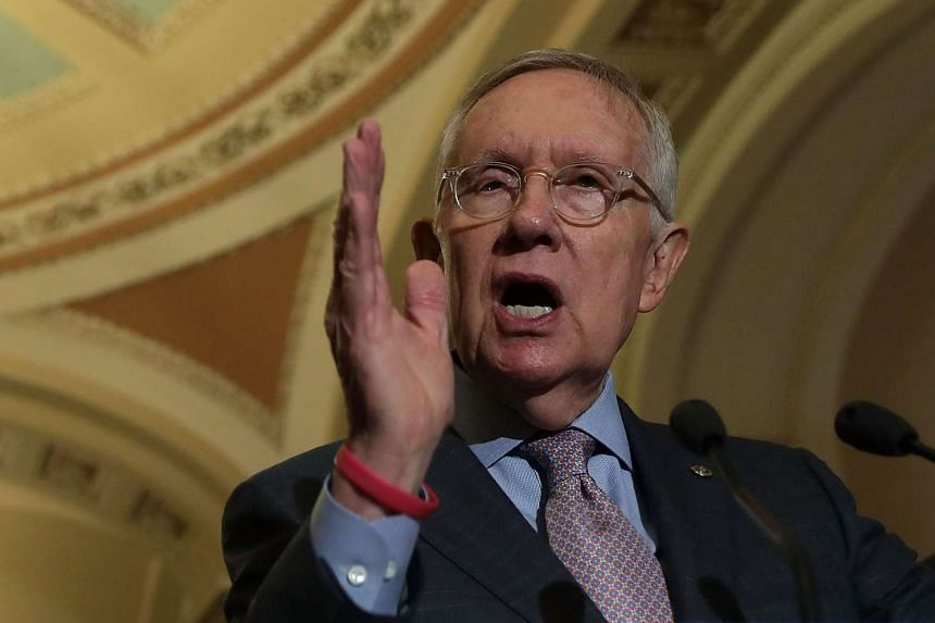 "Democratic Minority Leader Harry Reid (above) was the lone ""no"" vote."