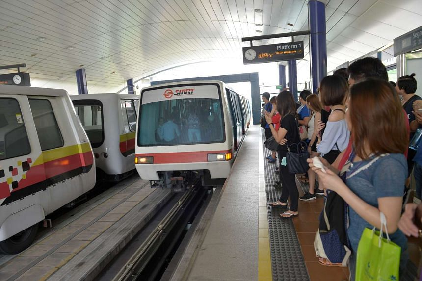 Commuters at Segar station waited over 30mins for the LRT to arrive.