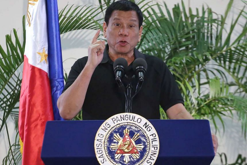 """Remarks made by Philippine President Rodrigo Duterte (above) likening himself to Adolf Hitler was deemed """"unacceptable"""" by the German government."""