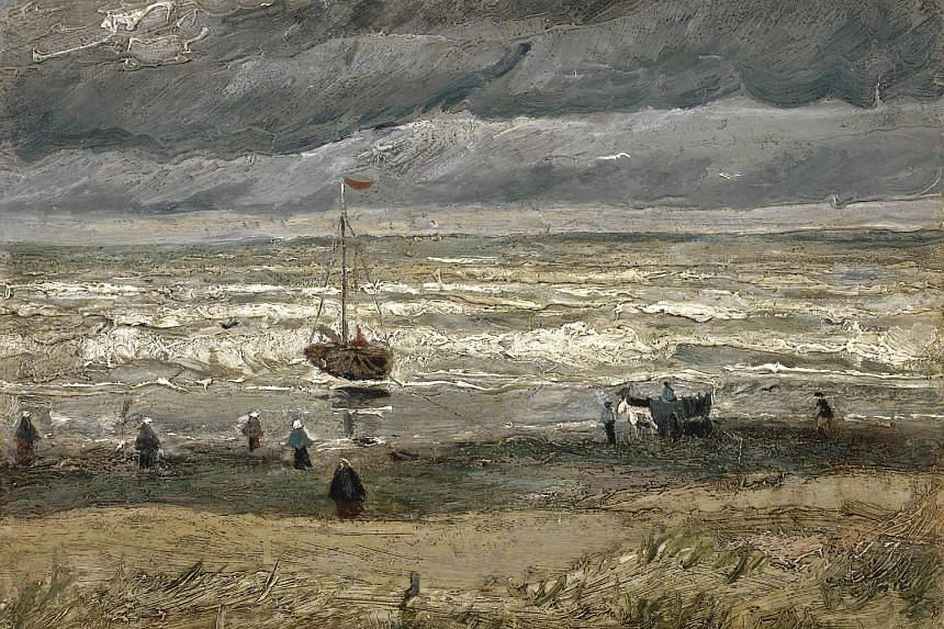 The painting The Beach At Scheveningen During A Storm by Vincent Van Gogh.