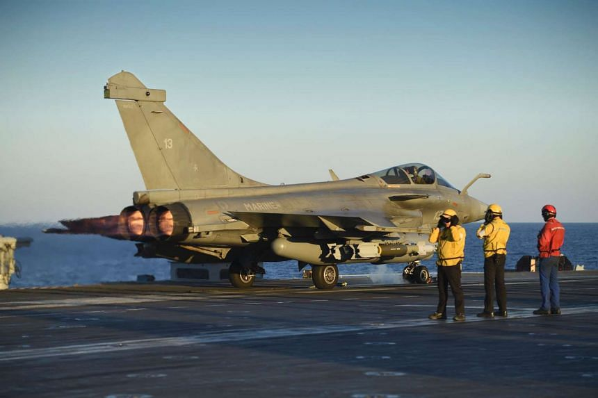French fighter jets took off from the aircraft carrier Charles de Gaulle for an operation against the Islamic State group in its Iraqi stronghold of Mosul.
