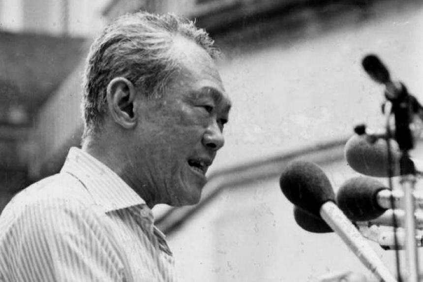 The late Mr Lee Kuan Yew in a 1980 photo. The Attorney-General's Chambers has clarified an assertion made by Mr Lee's estate regarding the limited copyright to his oral history transcripts.