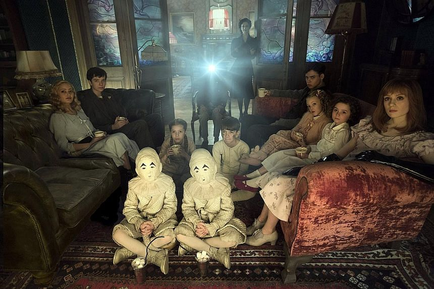 The villains in Miss Peregrine's Home For Peculiar Children chew on the residents in a children's home.