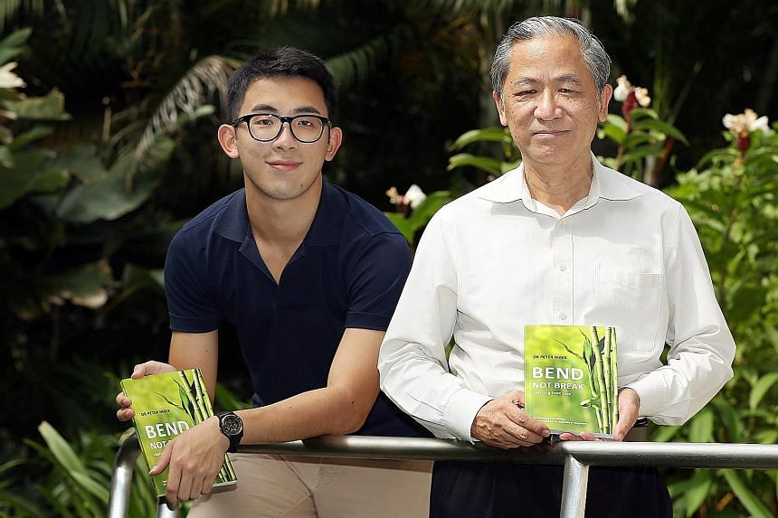 Student Ryan Lim (left) shares how he fell into depression after his best friend's suicide, in a book written by Dr Peter Mack (right), a senior consultant at Singapore General Hospital. Dr Mack said the way to help someone with suicidal thoughts is