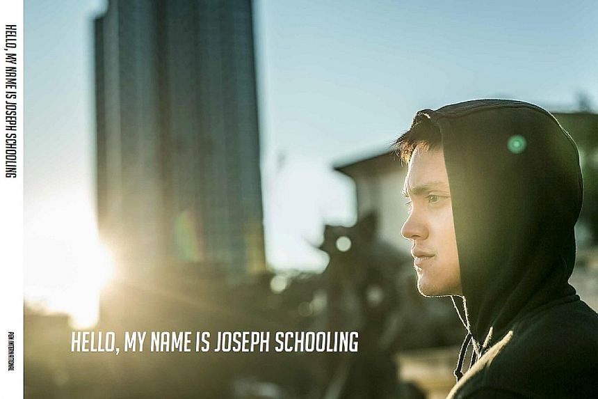 The cover of Hello, My Name is Joseph Schooling, a 96-page photo book that will hit major bookstores next week.