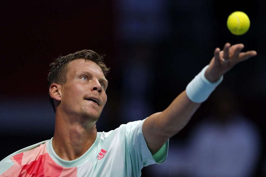 Berdych (above, in a file photo) will face Thomaz Bellucci next.